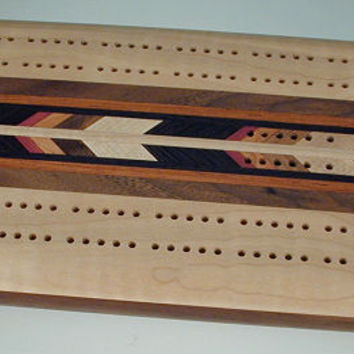 Images - Wooden Cribbage Board  - Maple