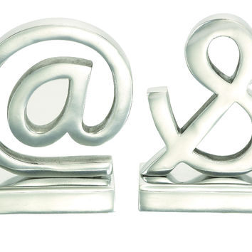 Aluminium Bookend Pair A Class Apart Home Decoration