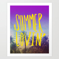 Summer Lovin' Art Print by Leah Flores | Society6