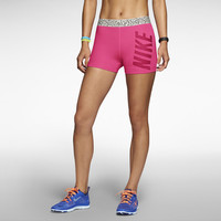 "Nike Pro Core Mezzo Waistband 3"" Compression Women's Shorts - Hyper Pink"