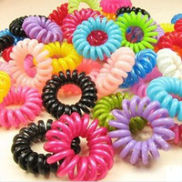 30pcs Hot Selling Girl Hair Accessories Mulit-Color Elastic Headband Head Ties Hair Ornaments Scrunchy Telephone Wire