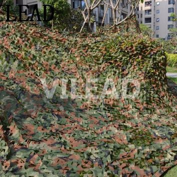 VILEAD 4M x 6M (13FT x 19.5FT) Woodland Digital Camo Netting Military Army Camouflage Net Sun Shelter for Hunting Camping Tent