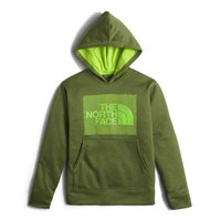 The North Face Boys Surgent Pullover Hoodie in Terrarium Green Heather NF00CB7Q-HLT