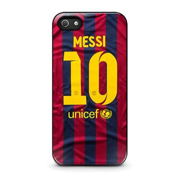 LIONEL MESSI 10 JERSEY BARCELONA iPhone 5 / 5S / SE Case Cover