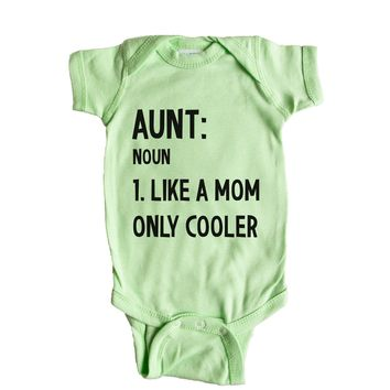 Aunt Noun Like A Mom But Cooler Baby Onesuit