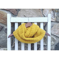 Honey Mustard Infinity Scarf