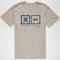 Rvca Target Boxes Mens T-Shirt Grey  In Sizes