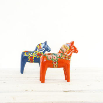 Orange Dala Horse // Scandinavian // Nils Ollson