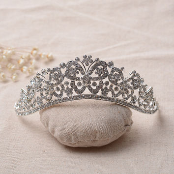 Rhinestone Wedding Dress Accessory Crown Style Prom Dress [6258315782]