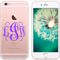 "FREE SHIPPING! - 4"" iPhone Cell Phone Decal Monogram - Font Choices Available! 