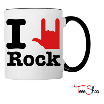 i love rock Coffee & Tea Mug
