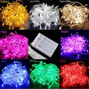 2m/3m/4m/5m/10m Battery Powered Led String Fairy Lights Xmas Tree Garden Party = 1932663108