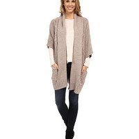 Bobeau Oversized Cable Cardigan