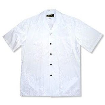 ulu white hawaiian rayon shirt