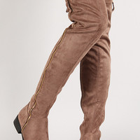 Liliana Suede Zip Up Over-The-Knee Riding Boot