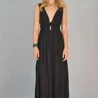 Piper Draped Maxi Dress