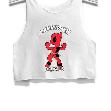 CREYP7V Chimichanga Bronies Deadpool My Little Pony Womens Crop Tank Top