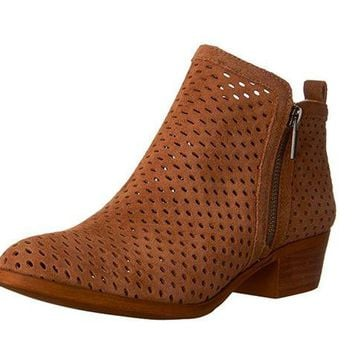 DCCKAB3 Lucky Brand Basel 3 Sesame Oiled Suede Booties