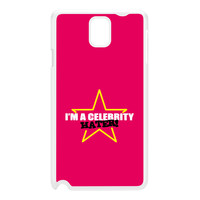 Celebrity Hater White Hard Plastic Case for Galaxy Note 3 by Chargrilled