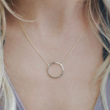 Talking Circles Necklace - Gold