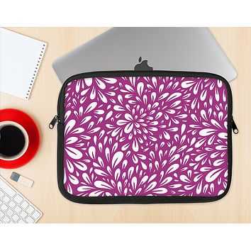The Purple & White Floral Sprout Ink-Fuzed NeoPrene MacBook Laptop Sleeve