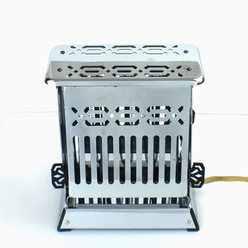 Vintage 1920's Antique Art Deco Retro Chrome Electric Edison Toaster