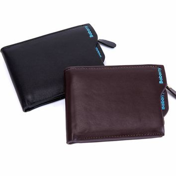 Coin Pocket Bag 2017 Hot Fashion men wallets Wallet ID Card holder Purse Clutch with zipper Men Wallet With Coin Bag Gift MJ-02