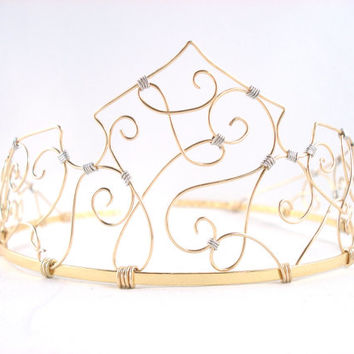 Aurora - Simple Golden Sleeping Beauty Tiara