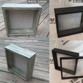 DEEP Shadow Box - 12x12 Shadow Box Frame, 3 inches Deep, Rustic Wood