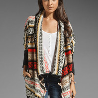 BB Dakota Kingsley Aztec Terry Sweater in Black from REVOLVEclothing.com