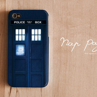 iphone 4 case , iphone 4s case , case for Iphone 4 mobile Case handmade: Doctor Who Police Call Box