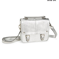 Aeropostale  Womens Metallic Shine Crossbody Bag - Gray
