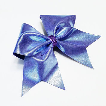 Cheer bow, Periwinkle cheer bow, cheerleading bow, cheerleader bow, cheerbow, softball bow, pop warner bow, dance bow, practice cheer bow