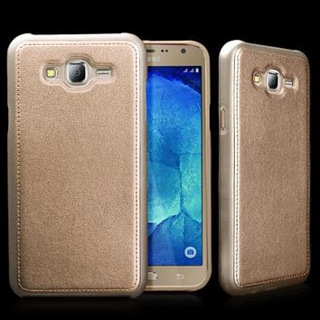 kobee for samsung galaxy j7 j700f case cover luxury leather soft tpu silicone hard back skin gold mobile phone accessories  number 2