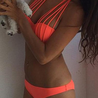 Halter Red Two Piece Bikini