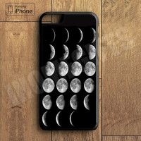 Moon phase Plastic Case iPhone 6S 6 Plus 5 5S SE 5C 4 4S Case Ipod Touch 6 5 4 Case iPhone X 8 8 Plus