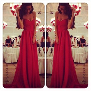 New Sexy Long Bridesmaid Formal Wedding Gown Party Evening Cocktail Prom Dress