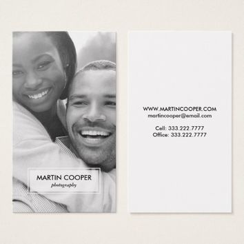 Modern Photography Photo Overlay Business Card