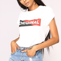 So Original Top - White