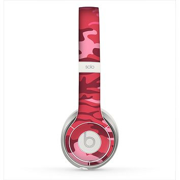 The Pink and Red Tradtional Camouflage Skin for the Beats by Dre Solo 2 Headphones