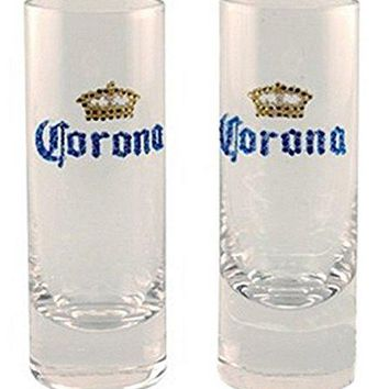 Corona Shooter Shot Glasses Dazzle Rhinestone Set of 2