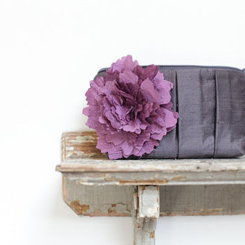Purple wedding clutch, bridesmaids gift idea