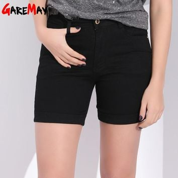 GAREMAY Black Plus Size Denim Shorts For Women Summer Womens Jeans Short Pants Large Size Female Shorts With High Waist Women