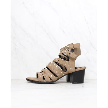 final sale - miracle miles - bella studded ankle strap sandals