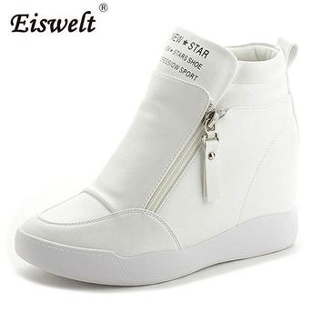 EISWELT 2017 Women Platform Wedge Heel Ankle Boots Women Shoes With Increased Platform
