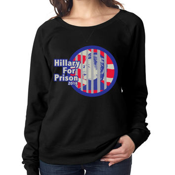 Hillary for prison 2016 Women's Long Sleeve Shirt