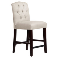 Leo Tufted Stool, Talc, Bar & Counter Stools
