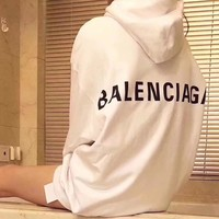 Unisex Balenciaga Long Sleeve Hedging Pullover Sweater Hoodies