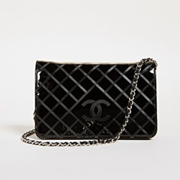 Chanel Patent Wallet on a Chain (Previously Owned)