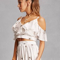 Oh My Love Satin Crop Top